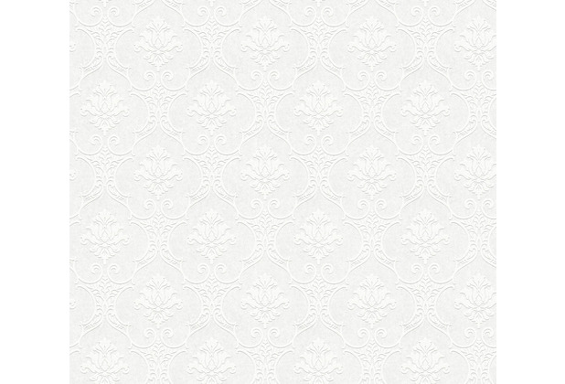 AS Création Vliestapete Meistervlies Barocktapete überstreichbar weiß 354771 25,00 m x 1,06 m