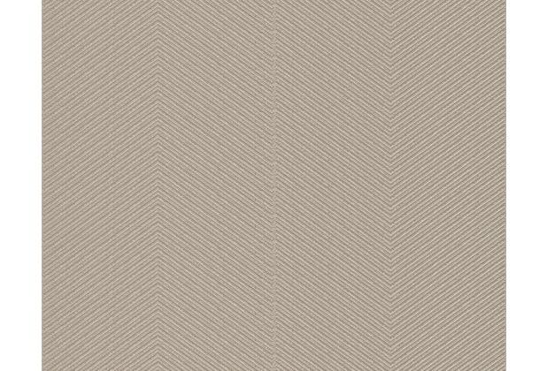 AS Création Uni-, Strukturtapete Around the world Vliestapete braun metallic 306985 10,05 m x 0,53 m