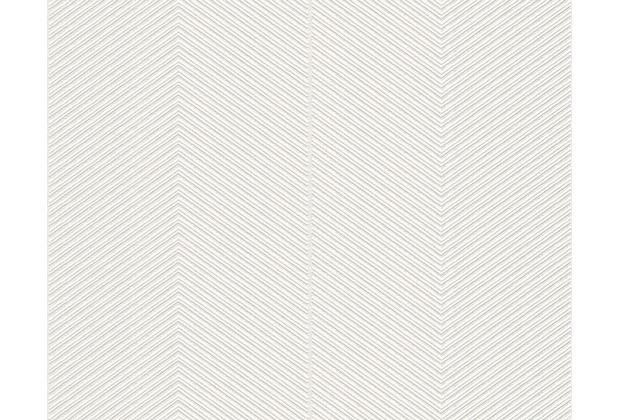 AS Création Uni-, Strukturtapete Around the world Vliestapete grau metallic creme 306981 10,05 m x 0,53 m