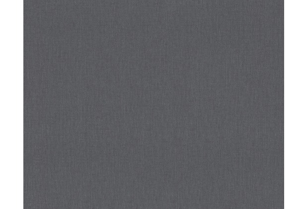 AS Création Uni-, Strukturtapete Black & White 3, Vliestapete, grau 211774 10,05 m x 0,53 m