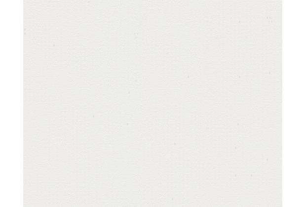 AS Création Uni-, Strukturtapete Black & White 3, Vliestapete, weiß 211798 10,05 m x 0,53 m