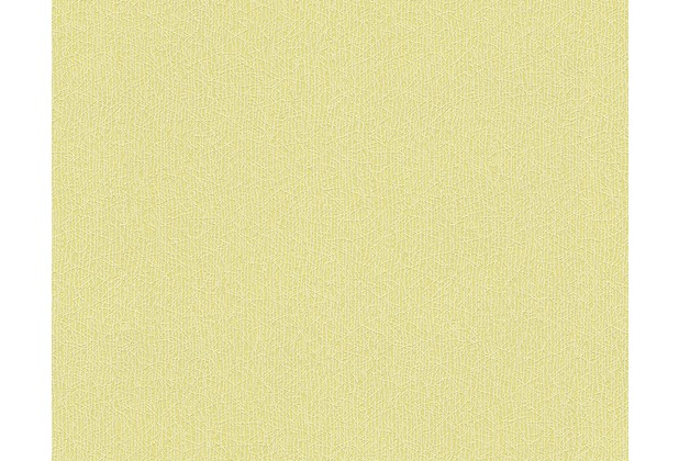 AS Création Uni-, Strukturtapete Colourfast, Vliestapete, gelb 959565 10,05 m x 0,53 m