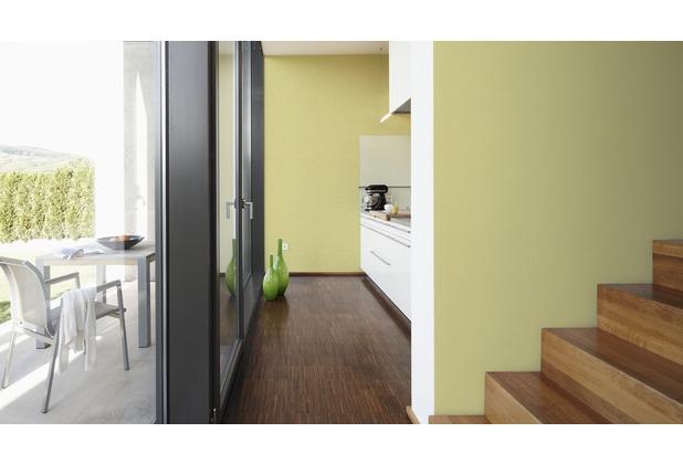 AS Création Uni-, Strukturtapete Colourfast, Vliestapete, gelb 10,05 m x 0,53 m