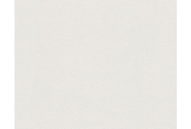 AS Création Uni-, Strukturtapete Colourfast, Vliestapete, weiß 959563 10,05 m x 0,53 m
