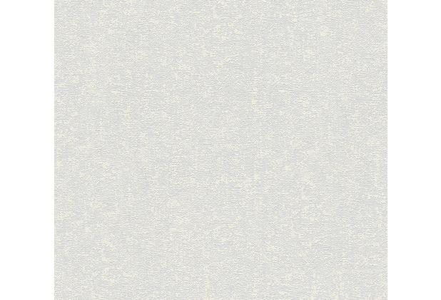 AS Création Uni-, Strukturtapete mit Glitter Midlands Vliestapete grau metallic 319682 10,05 m x 0,53 m