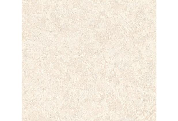 AS Création Uni-, Strukturtapete New Look Vliestapete beige creme metallic 338633 10,05 m x 0,53 m