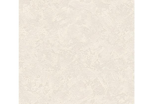 AS Création Uni-, Strukturtapete New Look Vliestapete creme grau metallic 338631 10,05 m x 0,53 m