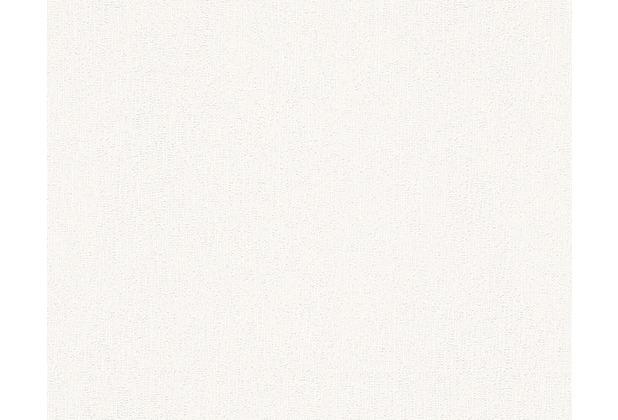 AS Création Uni-, Strukturtapete Paloma, Vliestapete, weiß 300931 10,05 m x 0,53 m