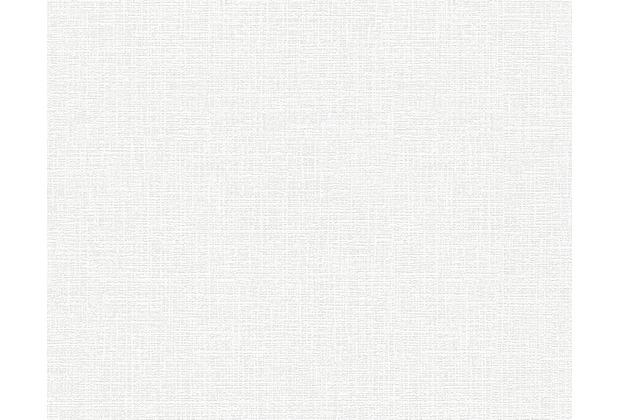 AS Création Uni-, Strukturtapete Shabby Style, Vliestapete, weiß 295019 10,05 m x 0,53 m