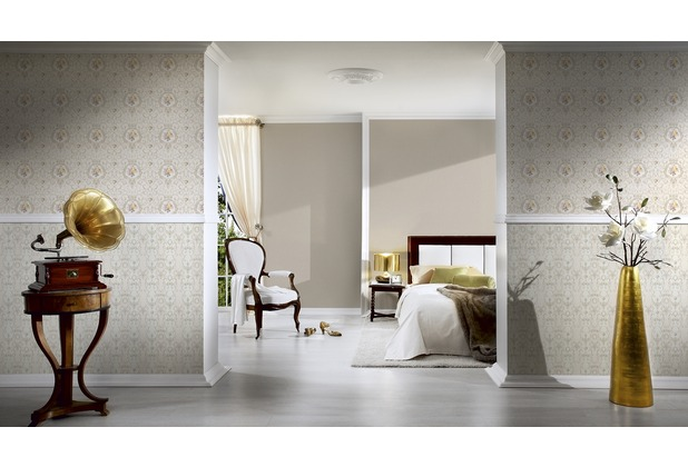 AS Création Unitapete Château 5 Vliestapete beige metallic 10,05 m x 0,53 m