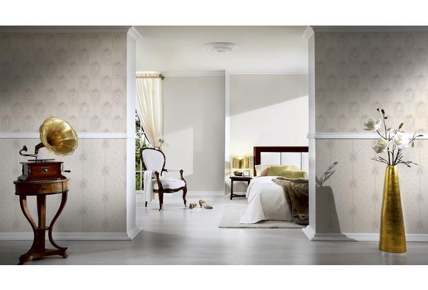 AS Création Unitapete Château 5 Vliestapete metallic weiß 10,05 m x 0,53 m