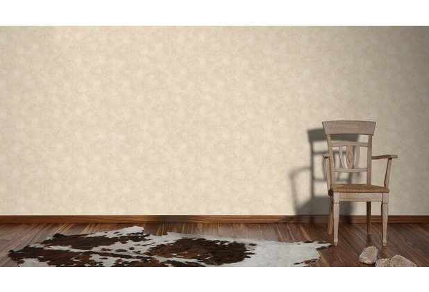 AS Création Unitapete Happy Spring Vliestapete beige braun 10,05 m x 0,53 m
