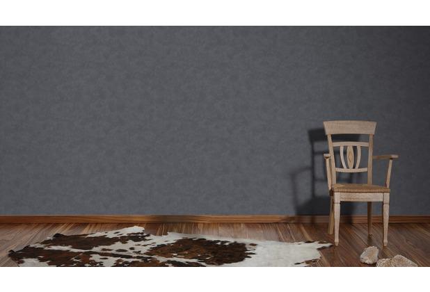 AS Création Unitapete Happy Spring Vliestapete schwarz 10,05 m x 0,53 m