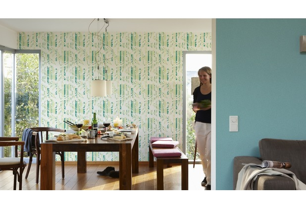 AS Création Unitapete New Look Vliestapete grün 10,05 m x 0,53 m