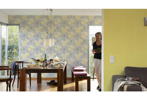 AS Création Unitapete Urban Flowers Papiertapete gelb metallic 328058 10,05 m x 0,53 m