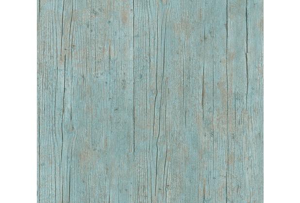 AS Création Vliestapete Authentic Walls 2 Tapete in Holz Optik blau grün braun 364871 10,05 m x 0,53 m