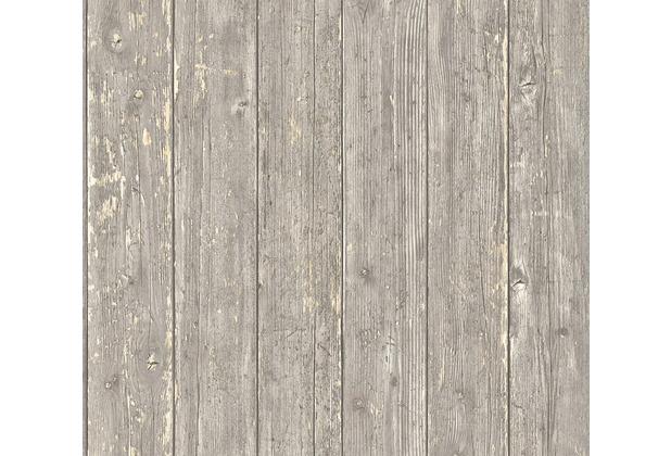 AS Création Vliestapete Authentic Walls 2 Tapete in Vintage Holz Optik braun beige 365731 10,05 m x 0,53 m