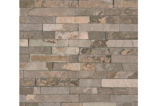 AS Création Vliestapete Best of Wood\'n Stone 2nd Edition Optik beige braun 355822 10,05 m x 0,53 m