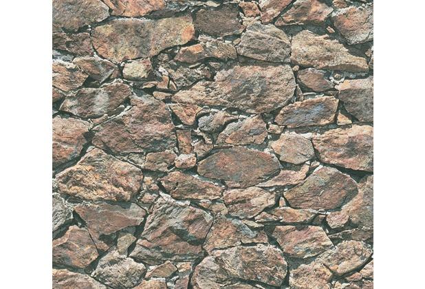 AS Création Vliestapete Best of Wood\'n Stone 2nd Edition beige braun schwarz 355831 10,05 m x 0,53 m
