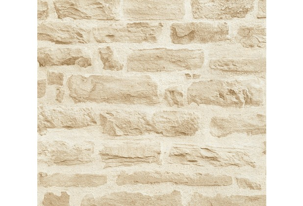AS Création Vliestapete Best of Wood\'n Stone 2nd Edition beige creme 355802 10,05 m x 0,53 m