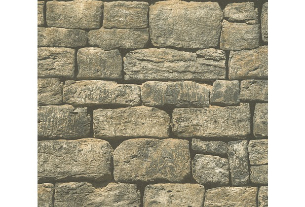 AS Création Vliestapete Best of Wood\'n Stone 2nd Edition Tapete in Naturstein Optik grau 307221 10,05 m x 0,53 m