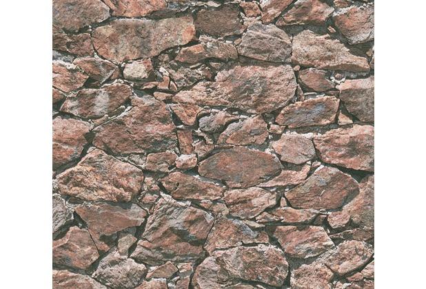 AS Création Vliestapete Best of Wood\'n Stone 2nd Edition braun rot schwarz 355832 10,05 m x 0,53 m