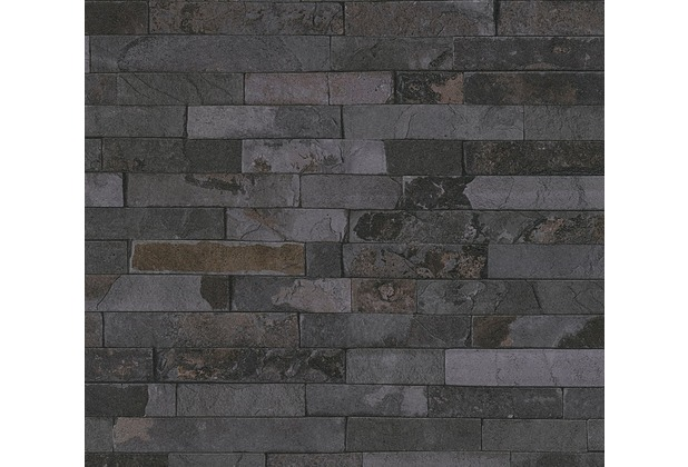 AS Création Vliestapete Best of Wood\'n Stone 2nd Edition grau schwarz 355825 10,05 m x 0,53 m