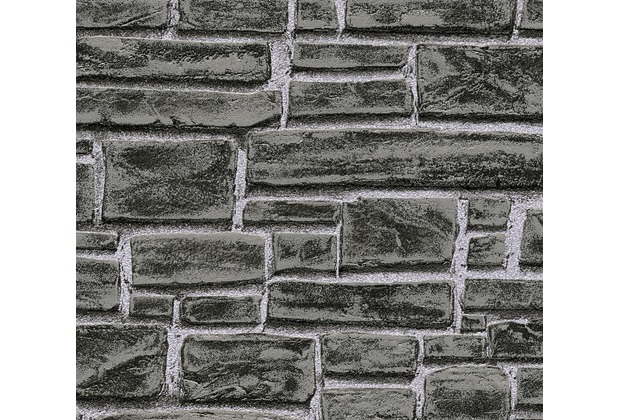 AS Création Vliestapete Best of Wood\'n Stone 2nd Edition grau schwarz 662330 10,05 m x 0,53 m