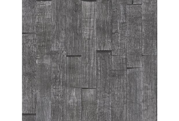 AS Création Vliestapete Best of Wood\'n Stone 2nd Edition schwarz 355841 10,05 m x 0,53 m