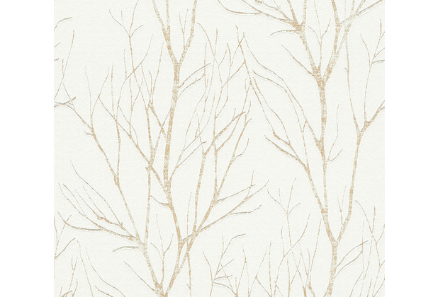 AS Création Vliestapete Blooming Tapete Ast Optik creme beige metallic 372603 10,05 m x 0,53 m