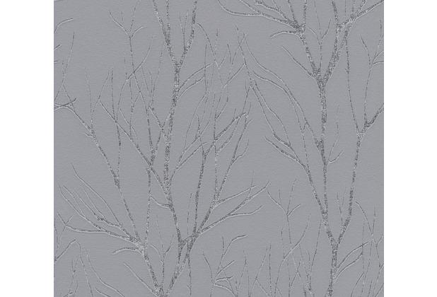 AS Création Vliestapete Blooming Tapete Ast Optik grau metallic 372601 10,05 m x 0,53 m