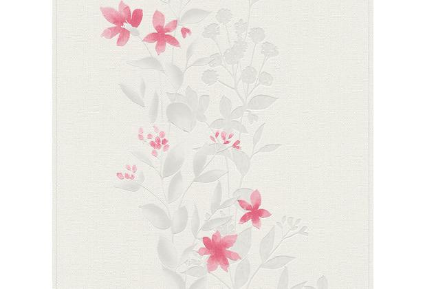 AS Création Vliestapete Blooming Tapete floral beige rot grau 372664 10,05 m x 0,53 m