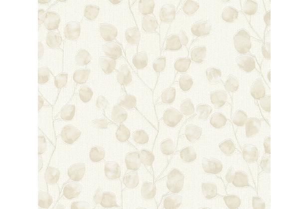 AS Création Vliestapete Blooming Tapete floral creme beige weiß 370053 10,05 m x 0,53 m