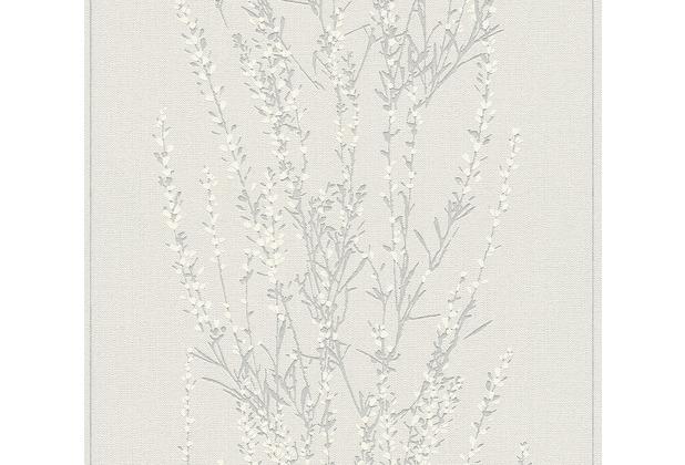 AS Création Vliestapete Blooming Tapete floral grau beige weiß 372673 10,05 m x 0,53 m