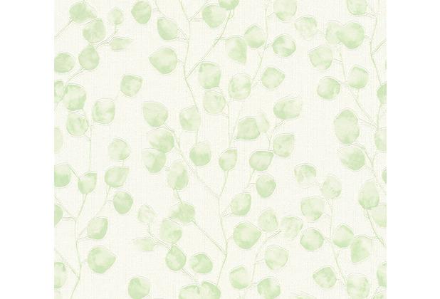 AS Création Vliestapete Blooming Tapete floral grün weiß 370051 10,05 m x 0,53 m