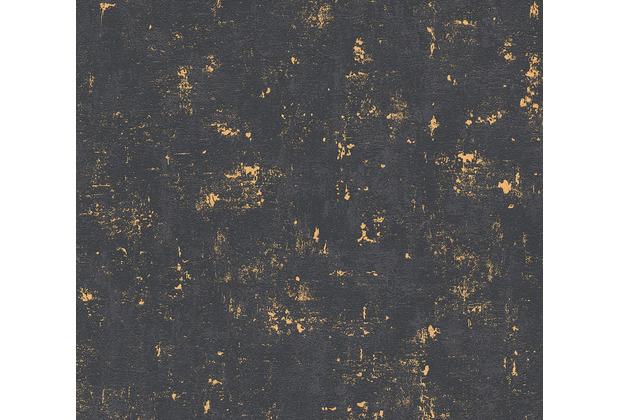 AS Création Vliestapete Blooming Tapete in Vintage Optik metallic schwarz 230782 10,05 m x 0,53 m