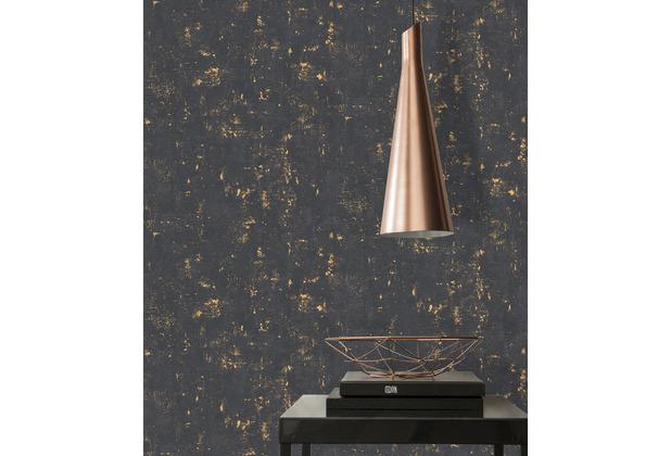 AS Création Vliestapete Blooming Tapete in Vintage Optik metallic schwarz 10,05 m x 0,53 m