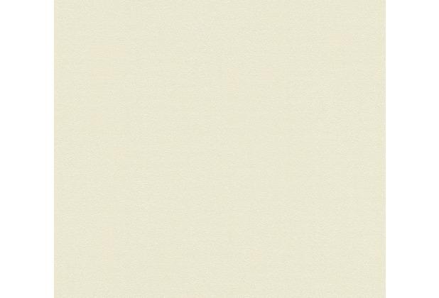 AS Création Vliestapete Blooming Tapete Uni creme gelb beige 372632 10,05 m x 0,53 m