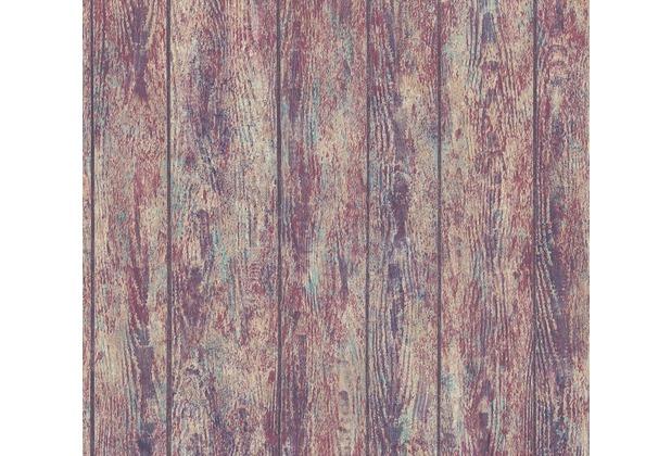 AS Création Vliestapete Boho Love Tapete in Vintage Holz Optik beige rot lila 364601 10,05 m x 0,53 m