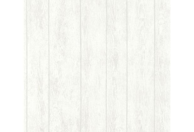 AS Création Vliestapete Boho Love Tapete in Vintage Holz Optik weiß grau beige 364603 10,05 m x 0,53 m