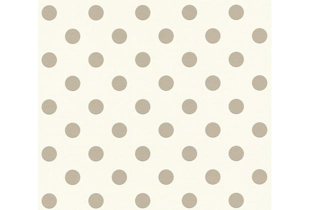 AS Création Vliestapete Boys & Girls 6 Tapete gepunktet beige rosa weiß 369341 10,05 m x 0,53 m