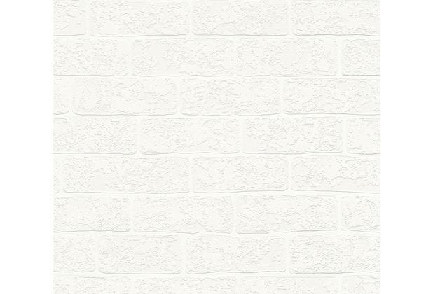 AS Création Vliestapete Boys & Girls 6 Tapete in Backstein Optik creme weiß 359811 10,05 m x 0,53 m