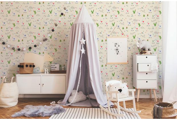 AS Création Vliestapete Boys & Girls 6 Tapete mit Lamas beige creme 369851 10,05 m x 0,53 m