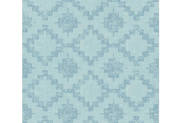 AS Création Vliestapete California Tapete im Ethno Look blau 363754 10,05 m x 0,53 m