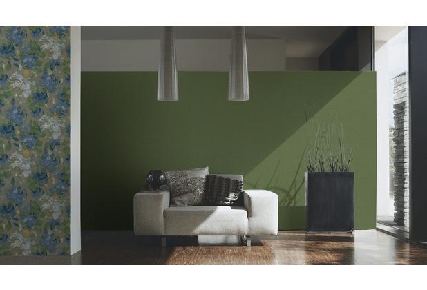 AS Création Vliestapete Character Tapete Uni grün 10,05 m x 0,53 m
