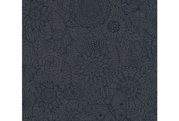 AS Création Vliestapete Club Tropicana Tapete metallic schwarz 358162 10,05 m x 0,53 m