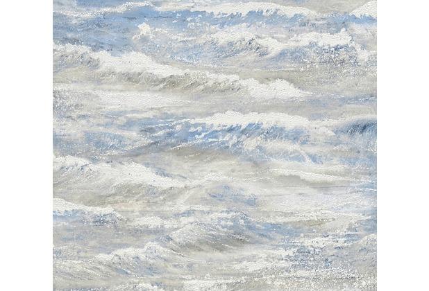 AS Création Vliestapete Côte d\'Azur Tapete beige blau creme 10,05 m x 0,53 m