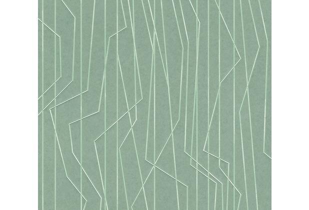 AS Création Vliestapete Emotion Graphic Tapete gestreift grafisch grün 368785 10,05 m x 0,53 m