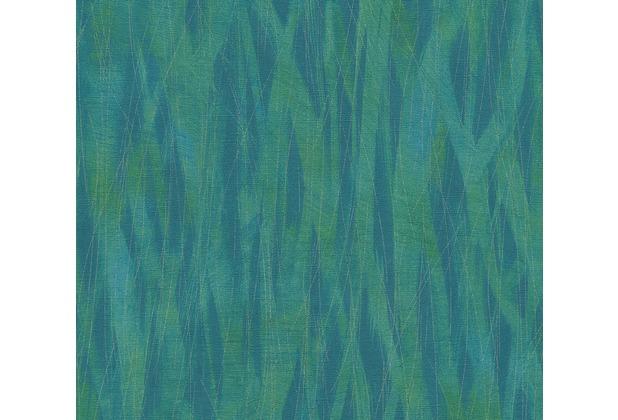 AS Création Vliestapete Emotion Graphic Tapete im Ethno Look blau grün metallic 368841 10,05 m x 0,53 m