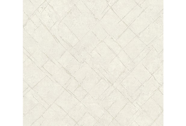 AS Création Vliestapete Emotion Graphic Tapete in Vintage Optik grau weiß 368813 10,05 m x 0,53 m